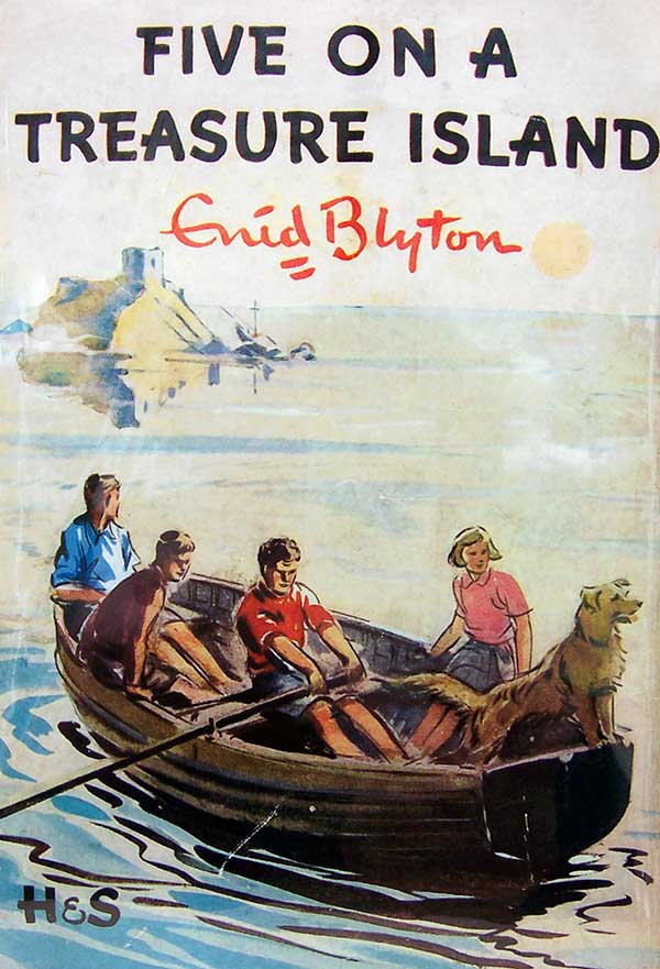"""Five on a Treasure Island"" book cover - Eileen Soper"