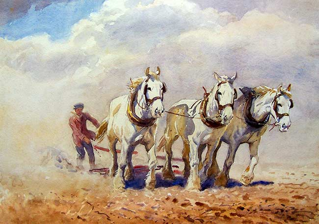 Ploughing Horses