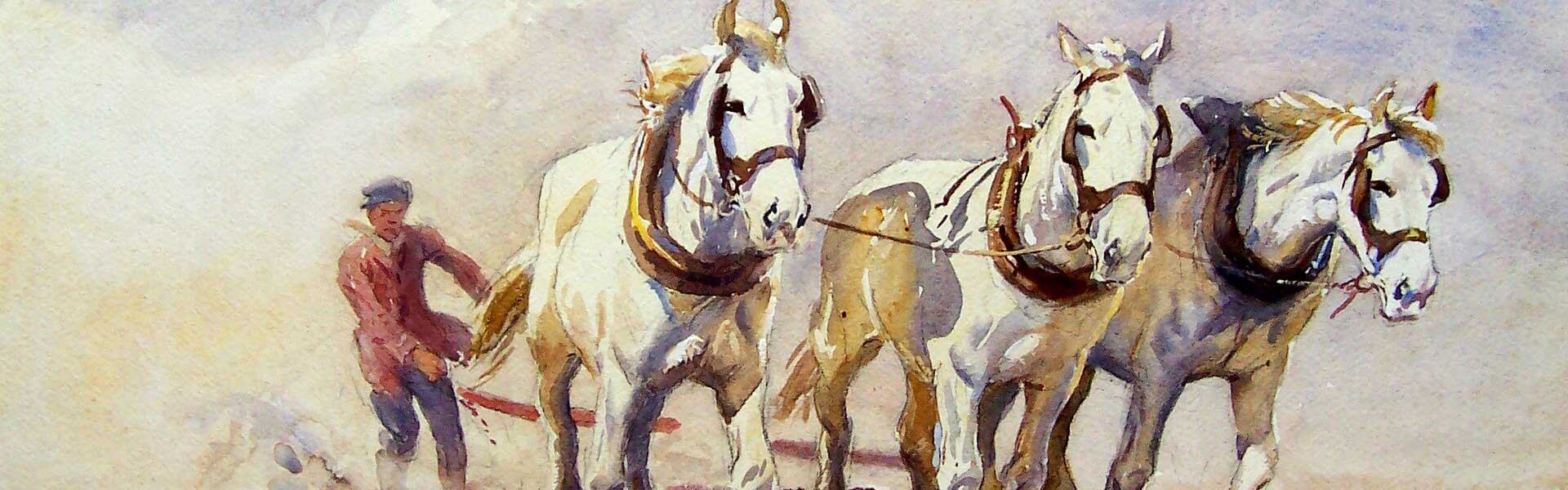 Horses Ploughing, Soper Collection