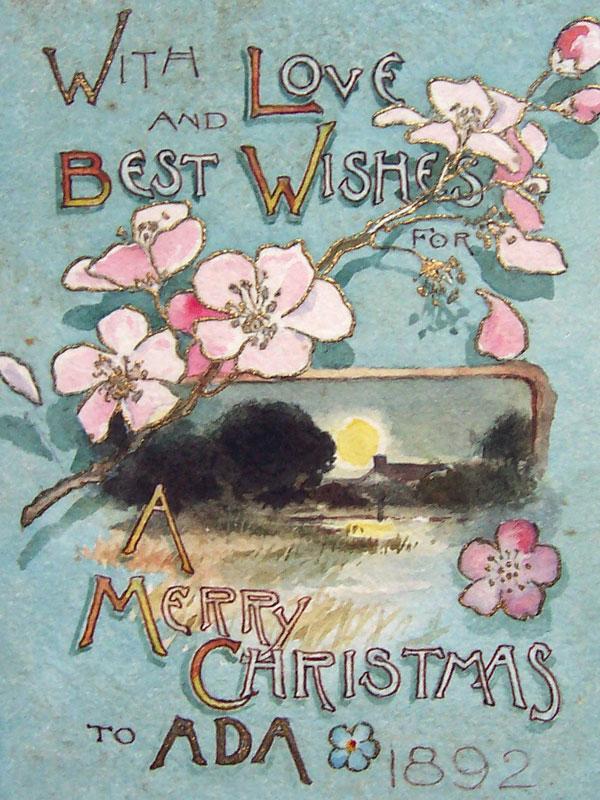 Merry Christmas to Ada 1892