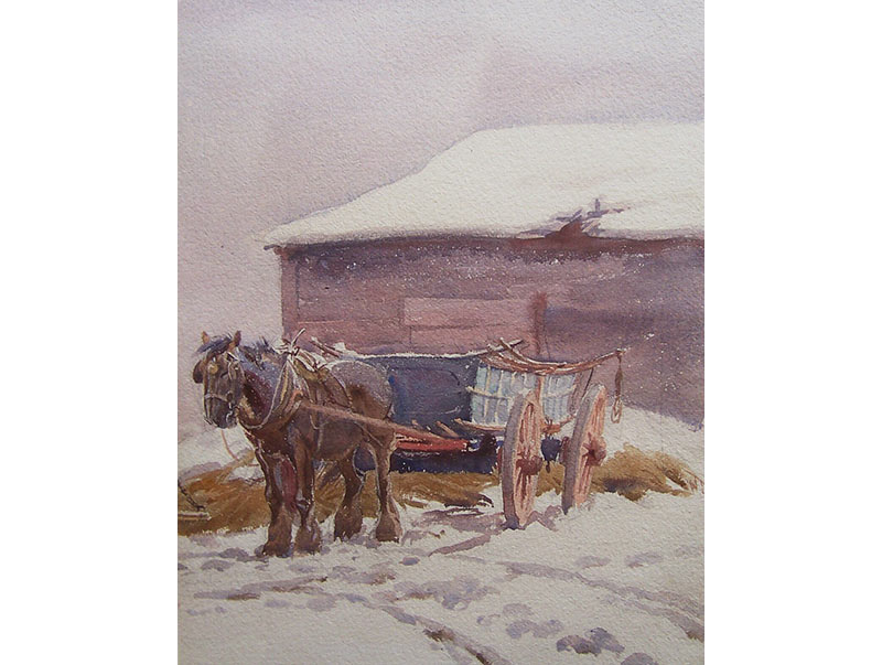 Waiting in the Snow - George Soper