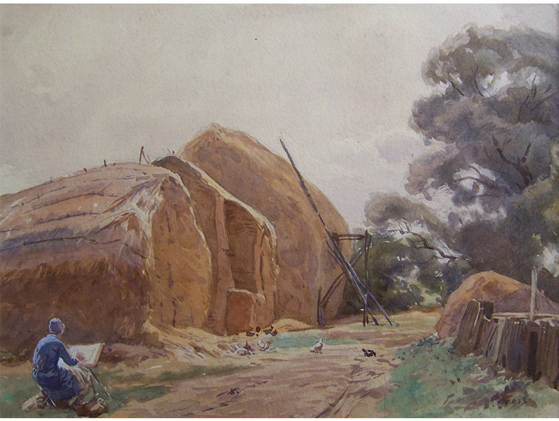 Eileen Painting Haystacks - George Soper